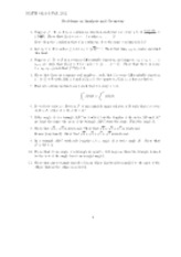 Analysis and Geometry problems
