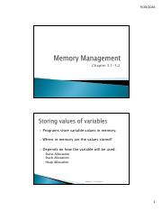 Chapter 3.1-3.2  Memory Management