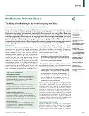 Tackling-the-challenges-to-health-equity-in-China_2008_The-Lancet.pdf