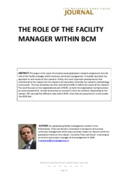 The Role of Facility Management