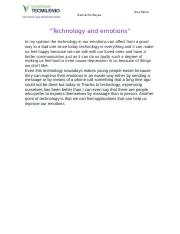 Technology and emotions.docx