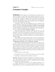 14. Consumer's Surplus - Solutions