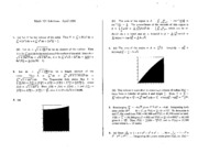 Math 101 Apr 96 Solutions