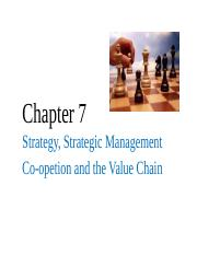 BAMG 350 Chapter 7 Value Chain and Coopetition