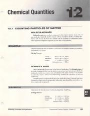 Chemical Quantities Chapter 12 - GaTerrilyn Heard