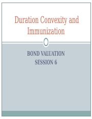 Session 8 Duration Convexity and Immunization