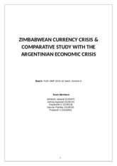 Report on the Zimbabwean crisis and its comparison with Agentenian crisis - Final