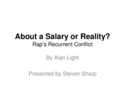 About A Salary or Reality