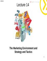 Lecture 3 -  Marketing  Environment and Tactics.ppt