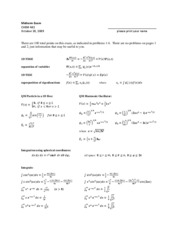 midterm exam equations