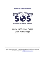Chem 1A03 Exam Package (1)