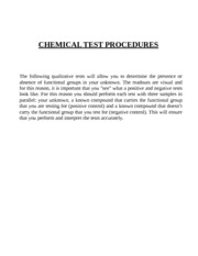 E-7 Supplement-Chemical Tests