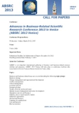 ABSRC2013Venice_Call_for_Papers