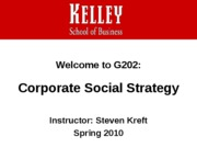 Introduction to Course BUS-G202 Corporate Social Strategy