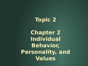 Topic_2_Chap_2_Individual_Behavior_Personality_and_Values