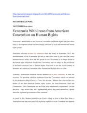 Panamerican Post Ven Withdraws from ACHuman Rights Spt '13, 3pgs