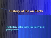 2-History of life on Earth