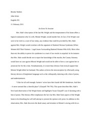 English 291-Position Paper 5