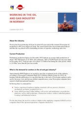 Working in the Norwegian Oil and Gas industry in Norway 2013