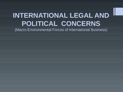 PART 7 - International Legal and Political Concerns