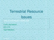 Terrestrial Resource Issues