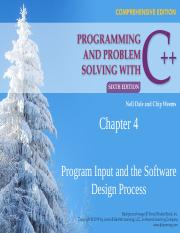 CSC 511 - 01 - CHAPTER 4 - PROGRAM INPUT & THE SOFTWARE DESIGN PROCESS.pptx