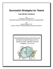 Successful Strategies for Teams
