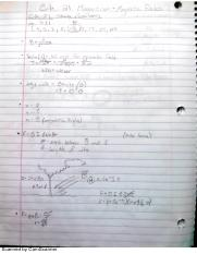 Magnetism and Inductance Notes
