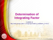 _Integrating Factor