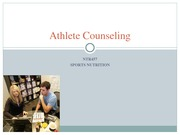 Athlete Counseling