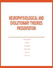 Neurophysiological and evolutionary Theories presentation.pptx