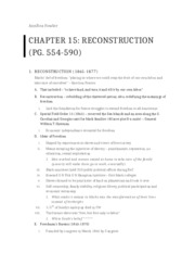 HIST CH 15 Outline