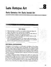 Chapter 8 Late Antique Art Early Christian and Jewish Art AP Study Guide