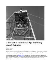 First Arms Race Manhattan Project Start of the Nuclear Age BAS July 2015 (2).docx