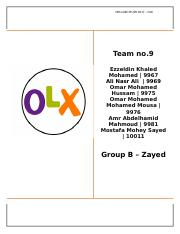 OLX -case study answer