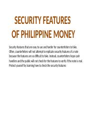 SECURITY FEATURES OF PHILIPPINE BANKNOTES.pptx