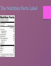Nutrition 1165 Food Labels Lecture