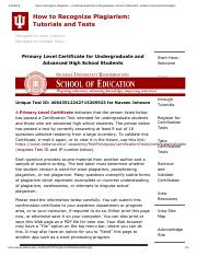How to Recognize Plagiarism -- Certificate Award for Undergraduates_ School of Education, Indiana Un
