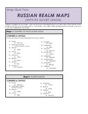 Map Quiz 2 Assignment