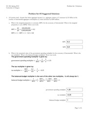 EC 202 - Problem Set 3 solutions