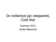End of Cold War 1