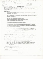 Comp Sci 241 Lecture Notes on Divisability Proofs