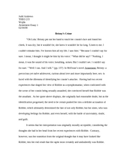 Atonement essay 1