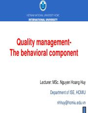 Chapter 4 - Behavioral component