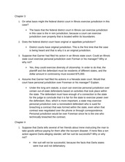 Assignment 2 - Chapter 3 and 4