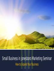 Lab 2-2 Small Business Seminar.pptx