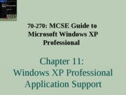 Windows Xp Professional Chapter 11