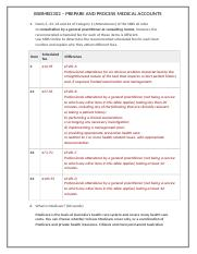 BSBMED302 PREPARE AND PROCESS MEDICAL ACCOUNTS PAGE 2.docx
