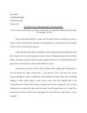 abstract docx - Tayo Bello Dr Maleda Belilgne AFST/ENGL 360