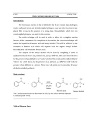 EXP7-The Cannizzaro Reaction